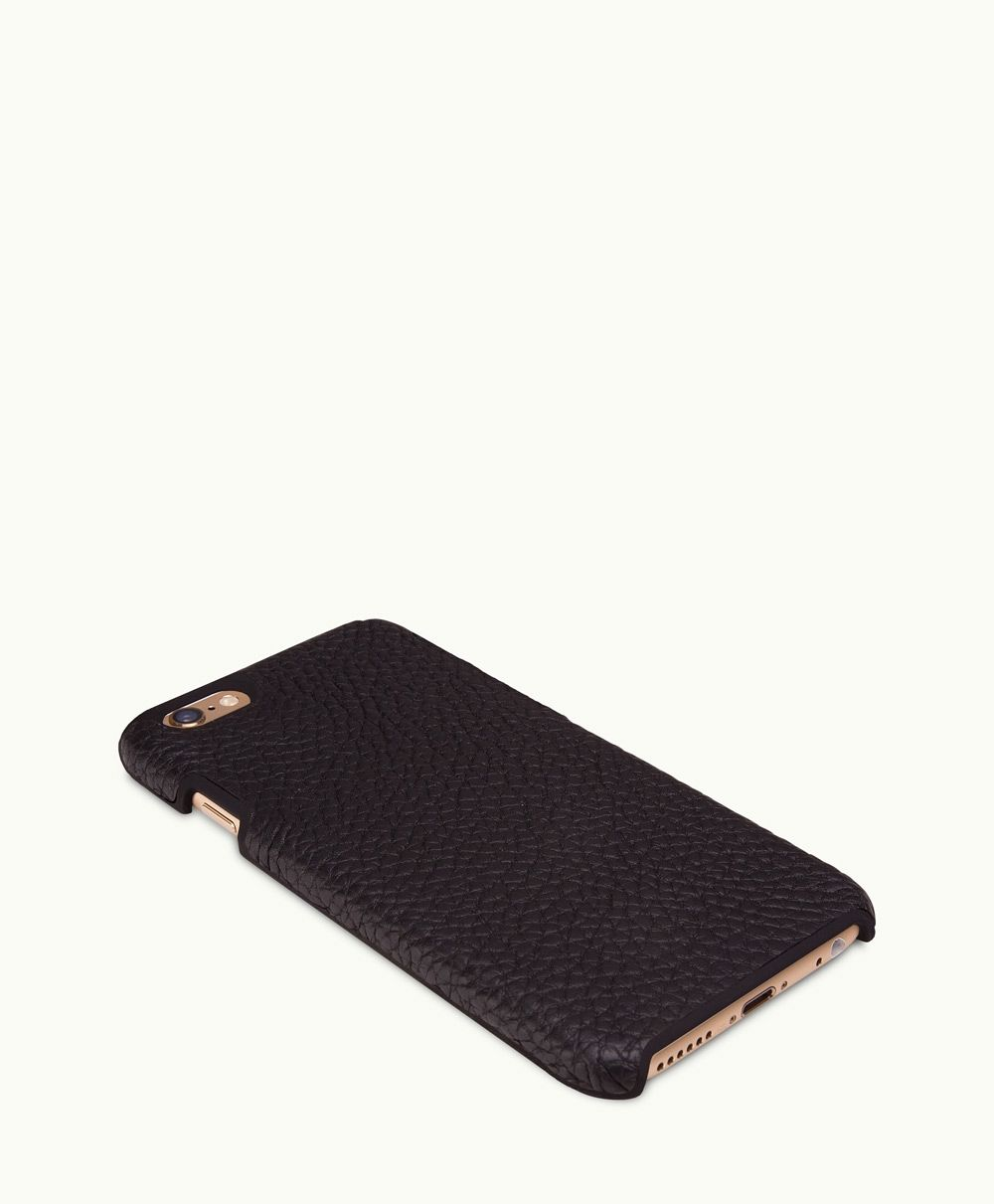 e232b3bb4a112 iPhone 6 6s Hard-Shell Case Black Pebble Grain