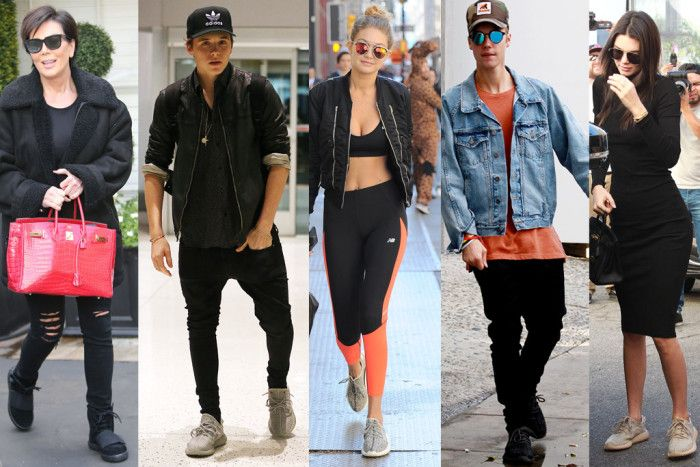 94ca87322ac46 Celebrities Wearing Yeezy Boost Sneakers