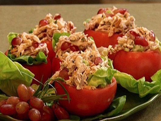 Neelys chicken salad in tomato cups recipe salad cups and neelys chicken salad in tomato cups forumfinder Gallery