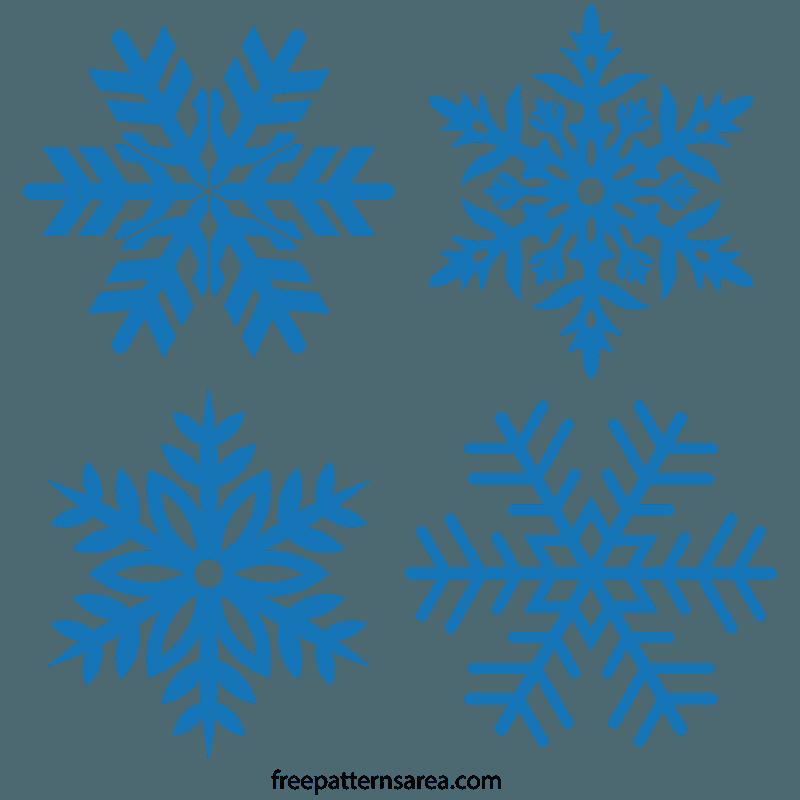 Free Snowflake Stencil Vector Snowflake stencil