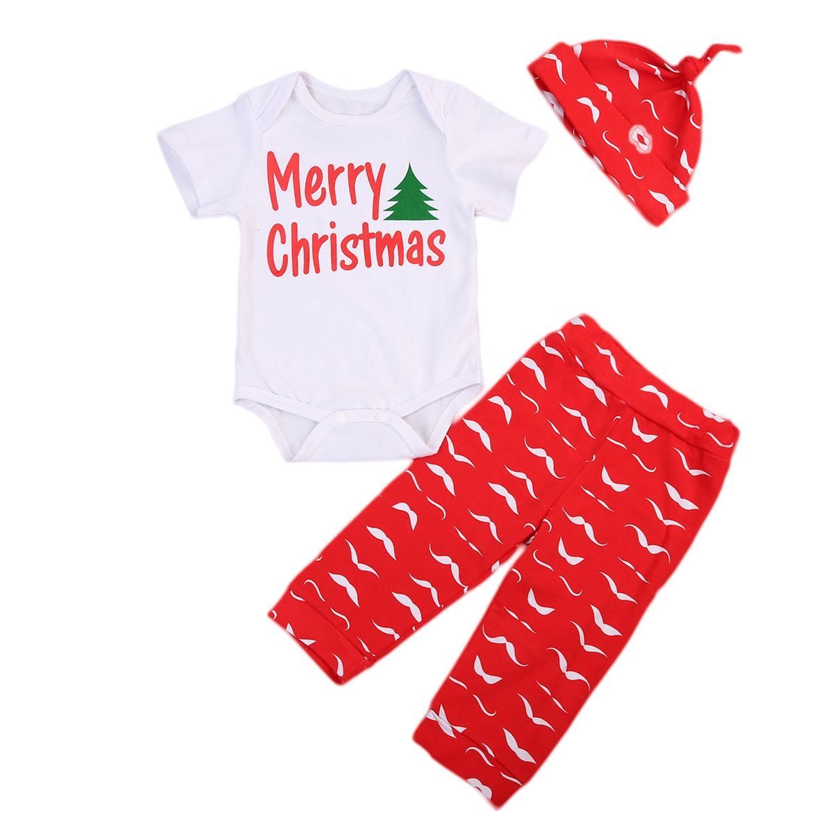 Newborn Baby Boy Girl Romper Christmas Costume Clothes Bodysuit Outfit LOT