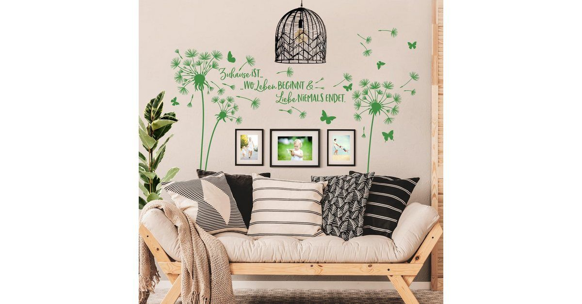 Wall decal »Dandelion – at home is …«