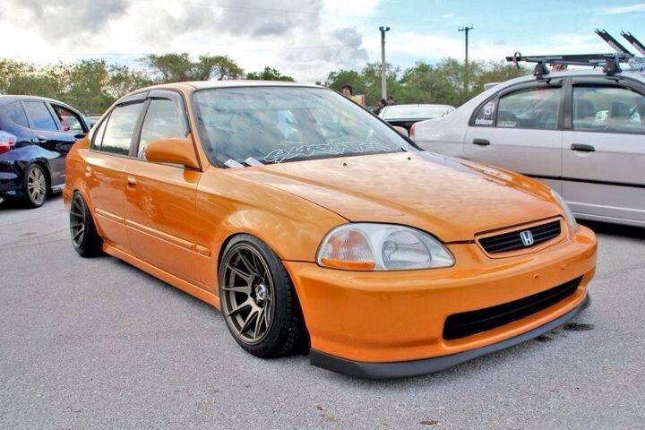 Orange Ek Honda Civic Sedan Honda Civic Hatchback Honda Civic 1998
