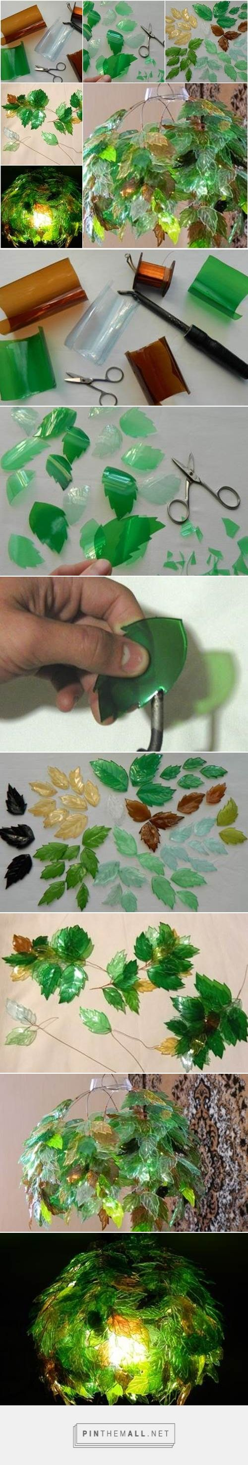 Nicht zufassen: Diese Lampe wurde aus Plastikflaschen selbst gemacht!