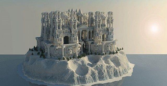 Quartz Minecraft Building Ideas Castle Island