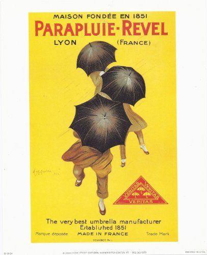 8x10 Poster Print ParapluieRevel by Leonetto Cappiello Fine Art  Price : $9.99 http://www.innerwallz.com/Poster-Print-ParapluieRevel-Leonetto-Cappiello/dp/B00ITZTXLK