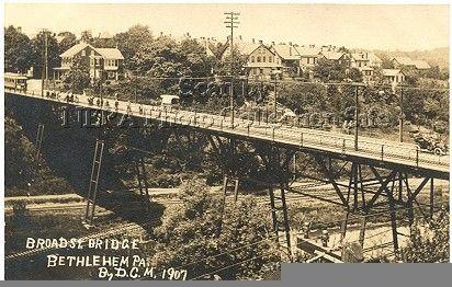 Broad Street Bridge 1907 Bethlehem Pa Paris Skyline Skyline Lehigh Valley