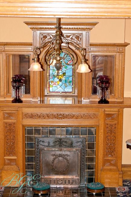 Ornately Carved Details On The Fireplace Surround Povey
