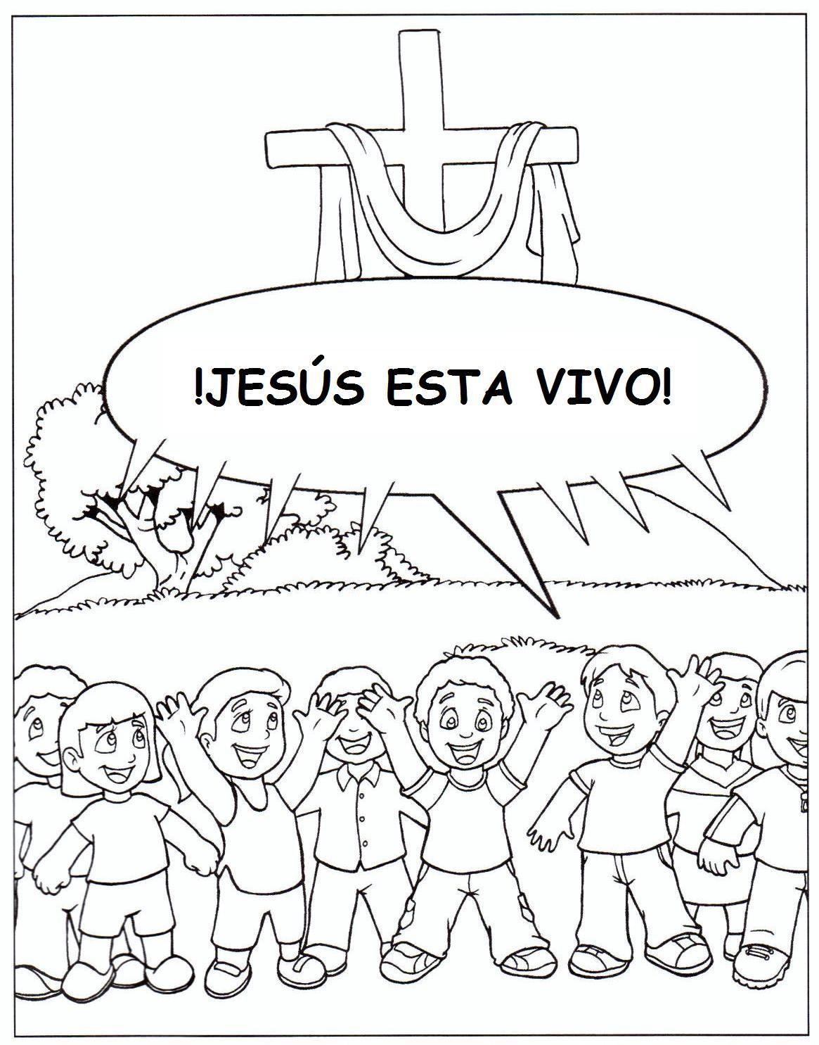 Jesus esta vivo! pagina de colorear | biblia kids | Pinterest ...