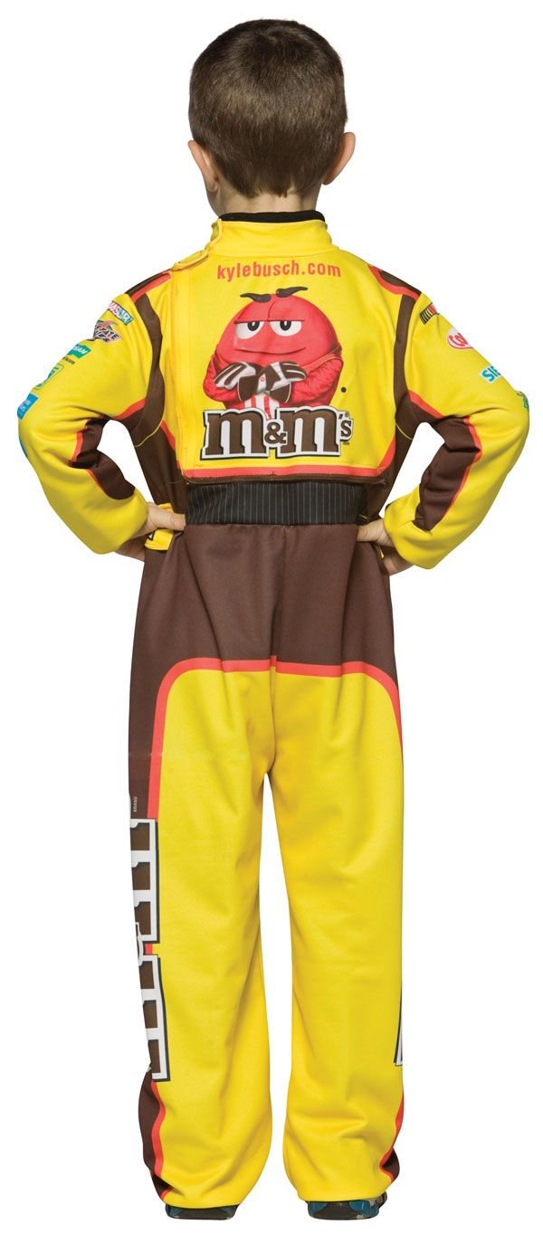 child kyle busch firesuit m ms costume m ms costumes