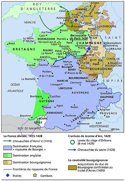 La France 1415 1436 Histoire Medievale Carte De France
