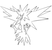 Zapdos Coloring Page Pokemon Coloring Pages Coloring Pages Pokemon Coloring