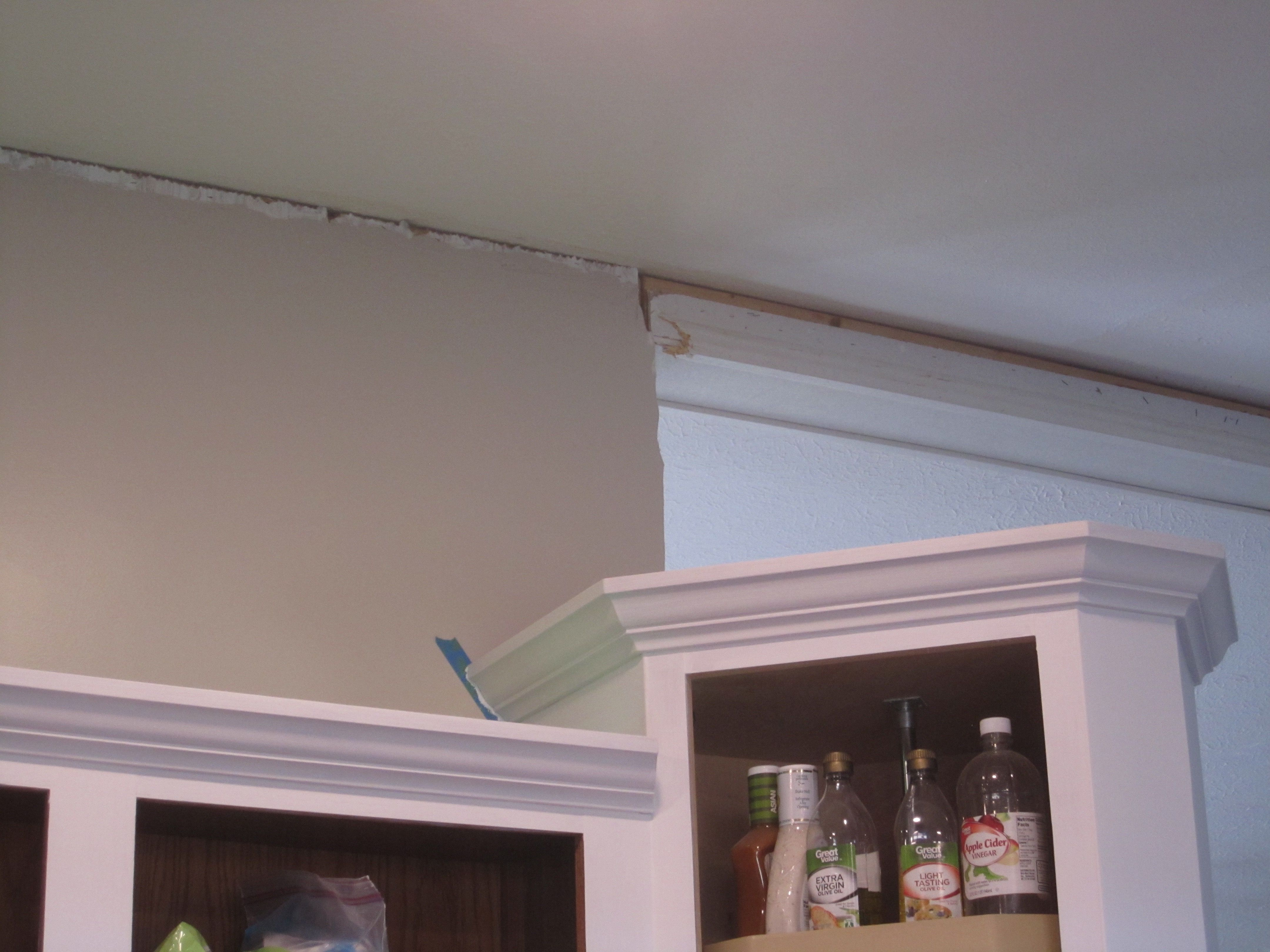 All But The Fridge Cabinet Has Upper Crown Moulding And Lower Panel Moulding Finished This Is The Corner Above The Panel Moulding Kitchen Bar Kitchen Remodel