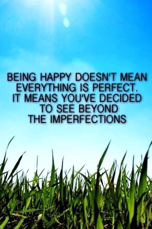 Inspiration: Being Comfortable With Progress, Not Perfection...