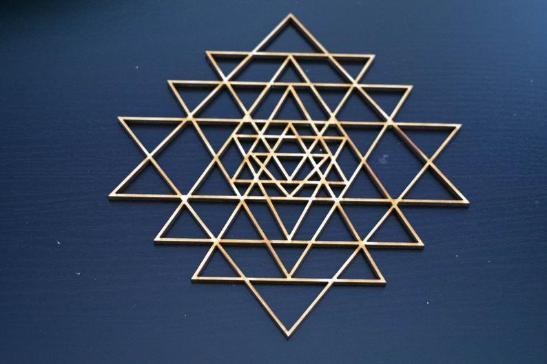 Simple Flower of Life Ornament - Sacred Geometry - Laser