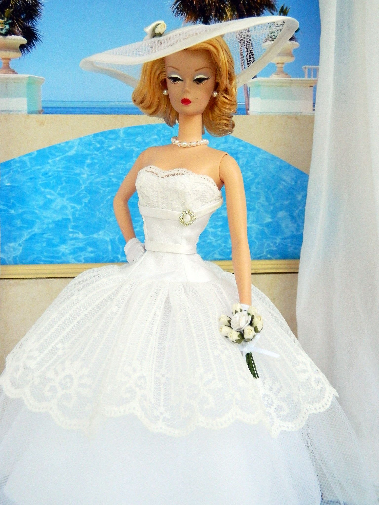 Pool Party Bride Fashion for Silkstone Barbie by Joby Originals ...