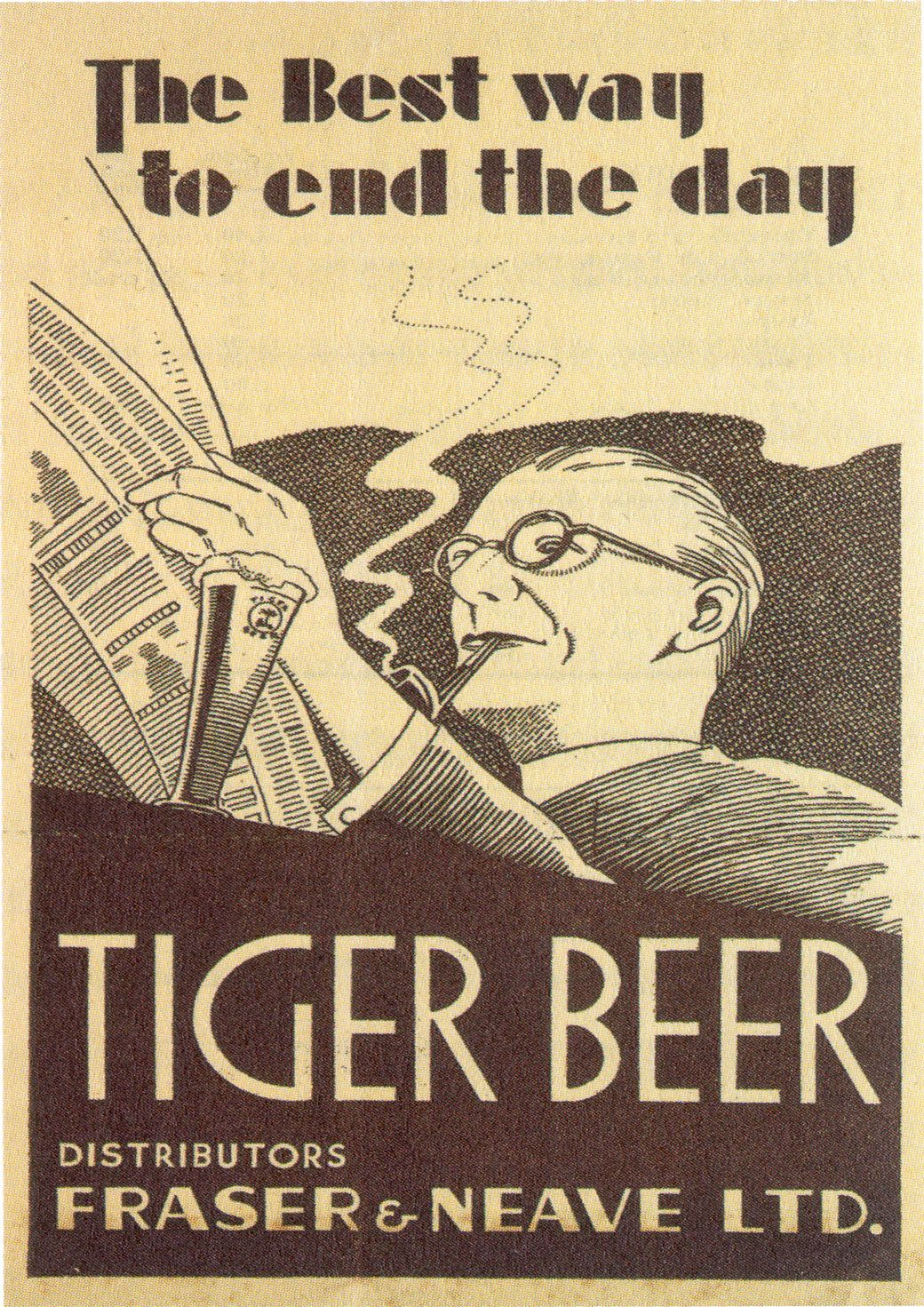 Tiger Beer Ad, 1930s