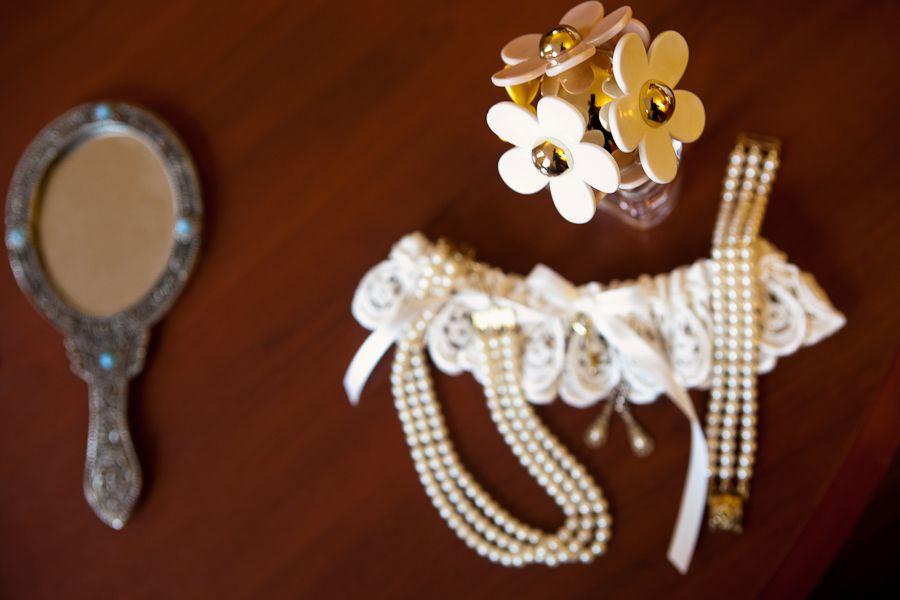 Alyssa's #vintage jewelry, perfume, #garter and mirror.