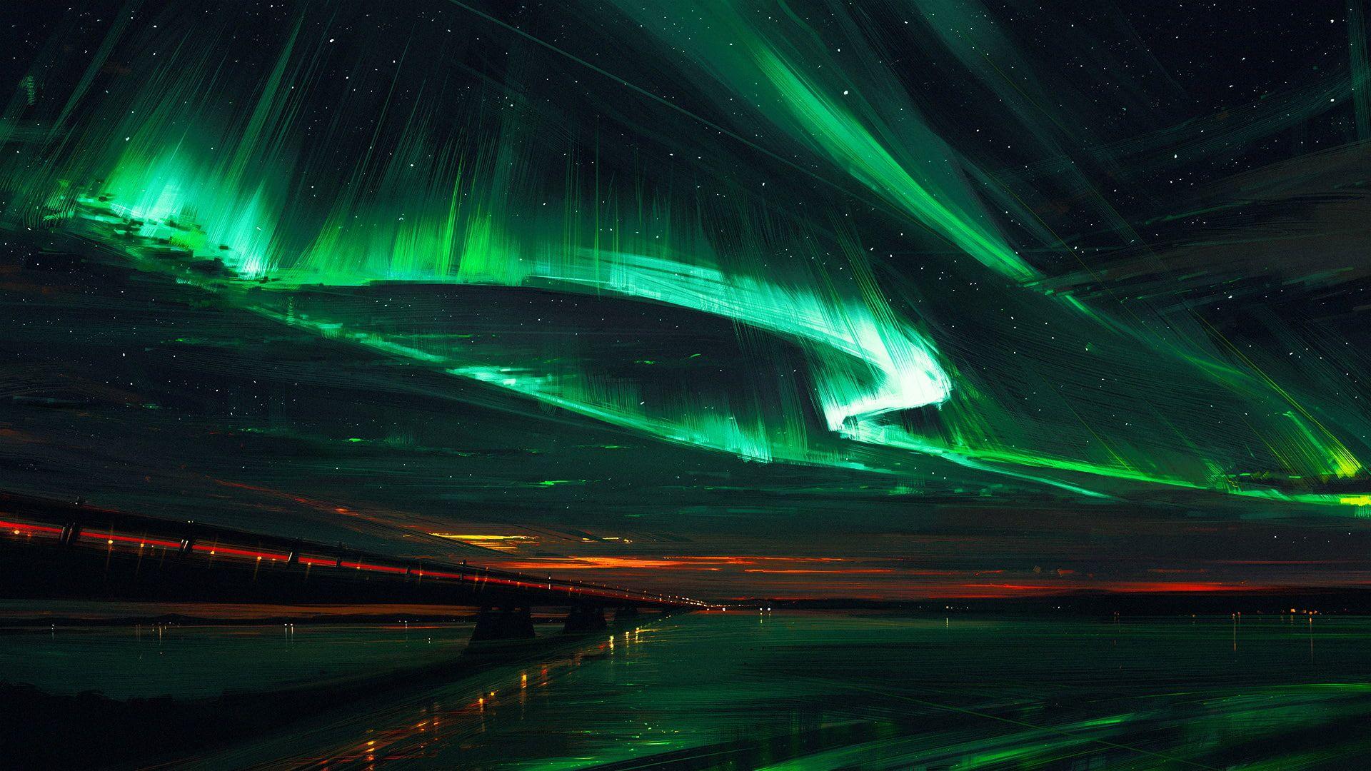 Northern Lights By Alena Aenami 1080p Wallpaper Hdwallpaper Desktop In 2020 Northern Lights Wallpaper Northern Lights Northern Lights Art