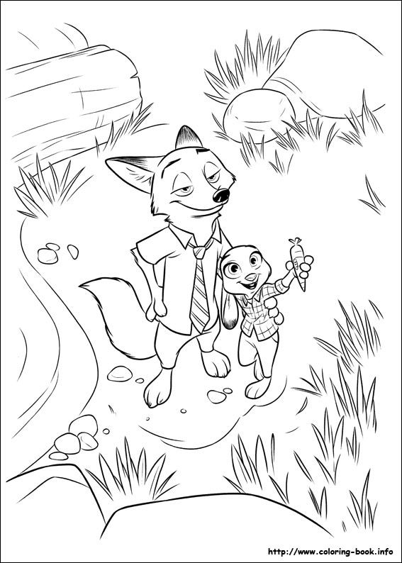 Great Website With Lots Of Good Coloring Pages Zootopia Coloring