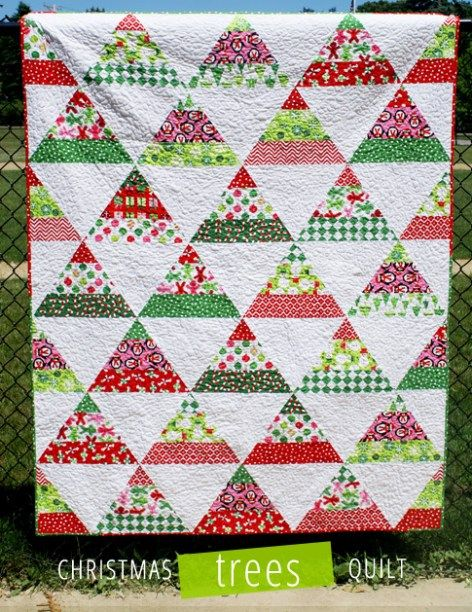 Christmas Trees Quilt by Laurie Matthews - a free pattern just for you.