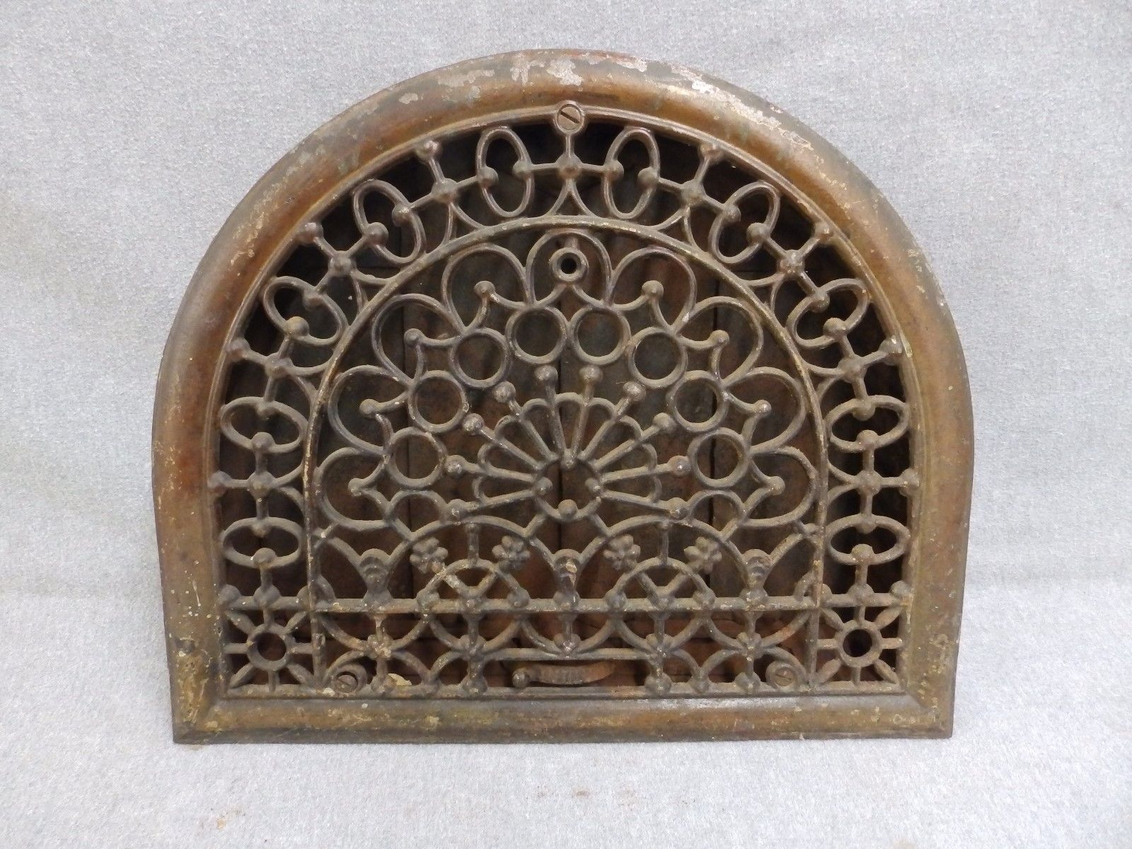 Decorative Grates Registers Antique Cast Iron Arch Top Dome Heat Grate Wall Register Old