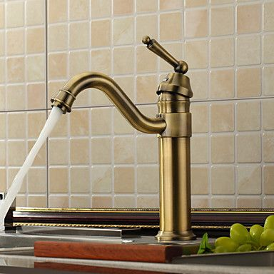Exceptional Antique Brass Kitchen Faucets | Antique Inspired Kitchen Faucet   Antique  Brass Finish