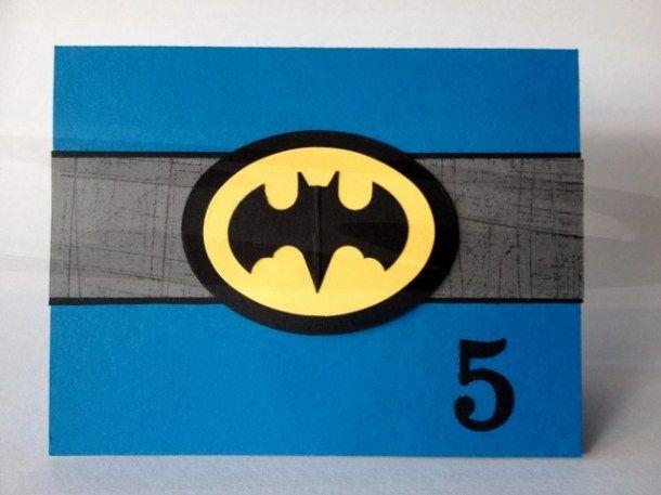 Batman Punch Art Happy 5th Birthday Punch Art Punch Art Cards