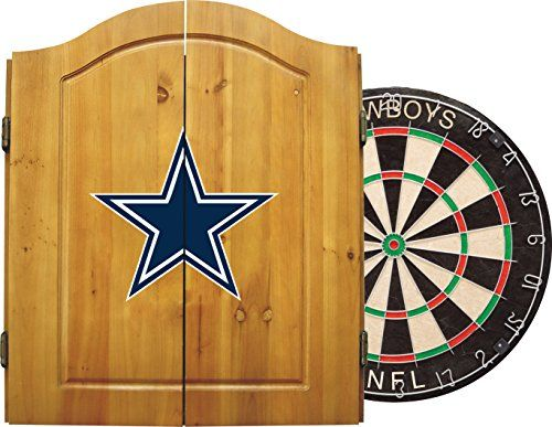 Imperial Officially Licensed Nfl Merchandise Dart Cabinet Set With Steel Tip Bristle Dartboard And Darts Da Chargers Nfl Dallas Cowboys Fans Nfl Dallas Cowboys
