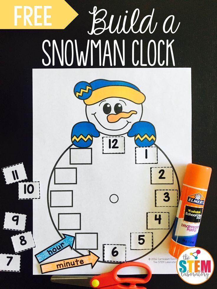 Build a Snowman Clock   Pinterest