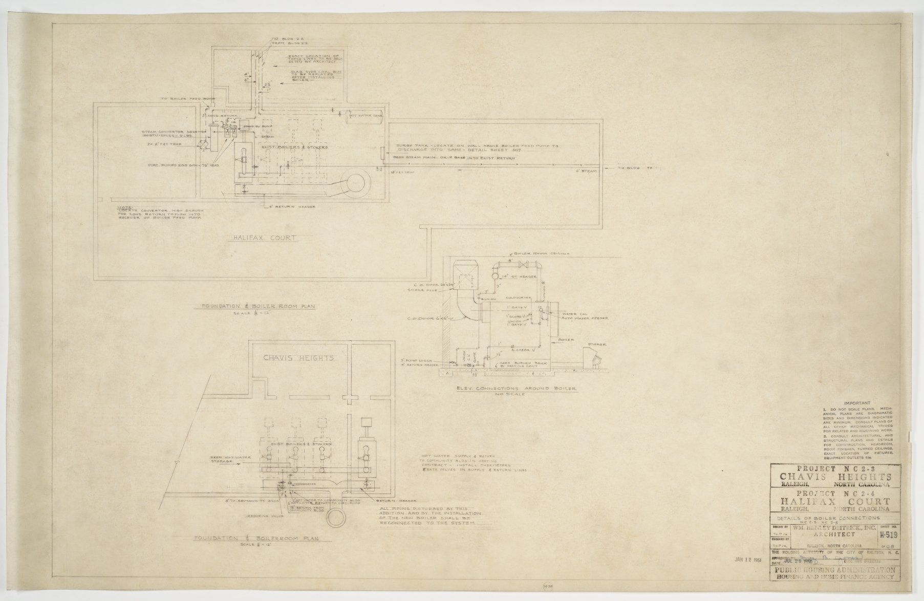 Boiler room plans and elevations (Chavis Heights) - mc00227-003 ...