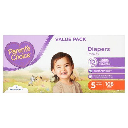 Parent S Choice Diapers Size 5 108 Diapers Walmart Com Parents Choice Diapers Absorbent Diapers Diaper