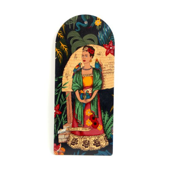 Skärbräda Frida Kahlo (svart m apa)  http://krabat53.shop.textalk.se/kok/skarbrada-frida-kahlo-svart-m-apa.html