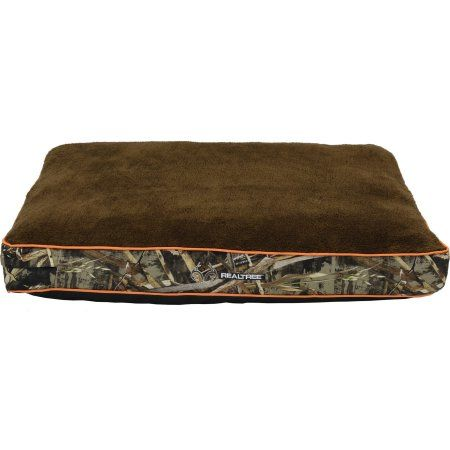 Realtree Gusseted Camo Pet Bed, 30 inch x 40 inch, Brown