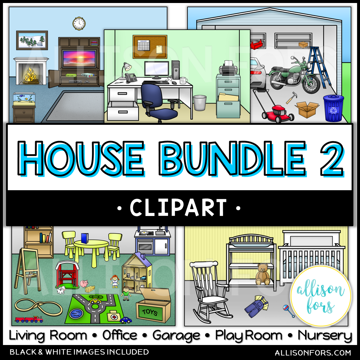 House Clip Art Bundle 2