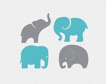 Download baby elephants set svg dxf file instant download stencil ...