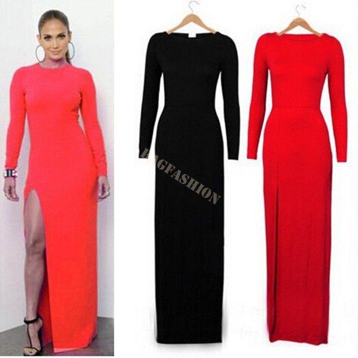 Side split dress plus size