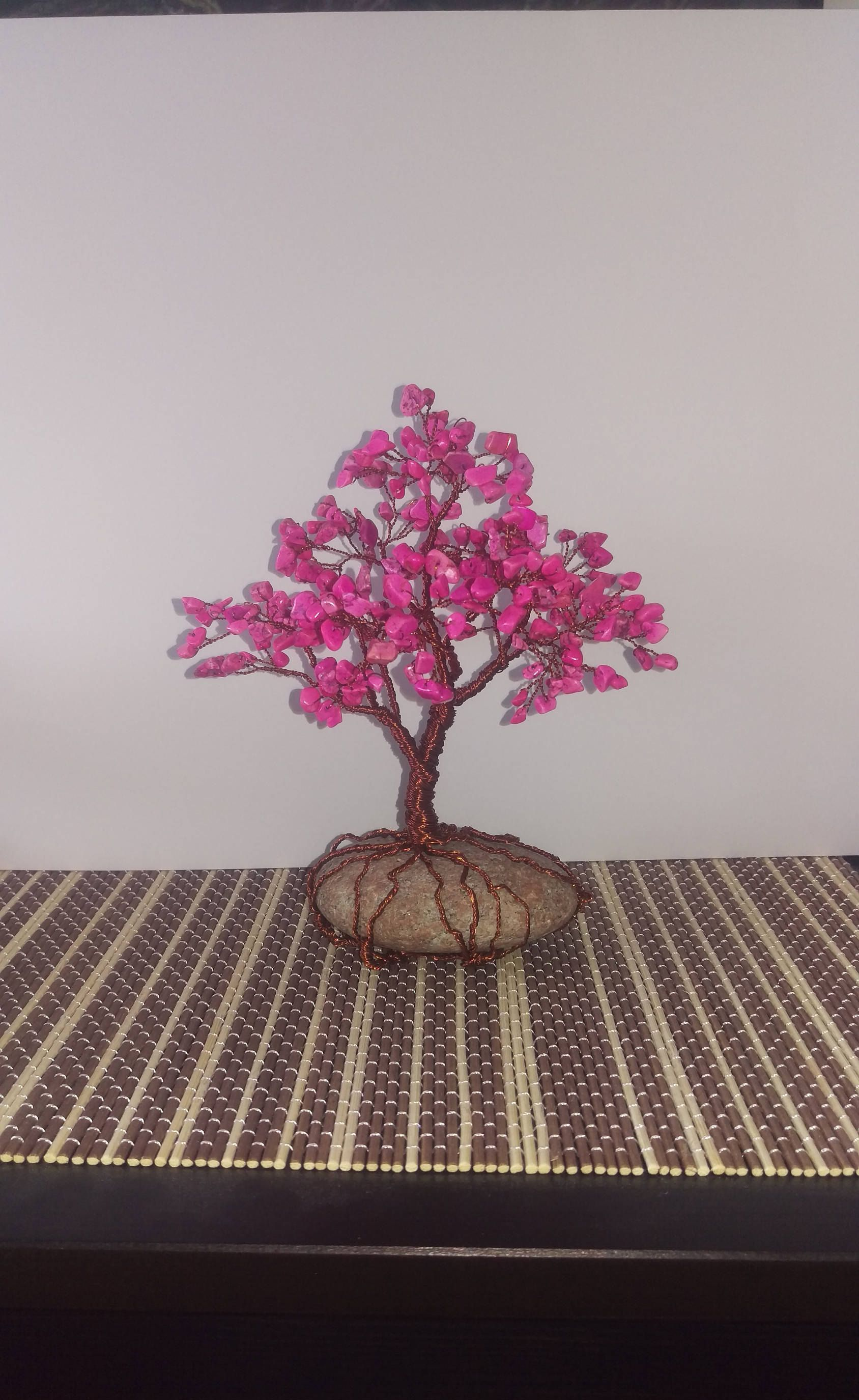 Bonsai tree of pearls in pink and copper tree of life gift ...