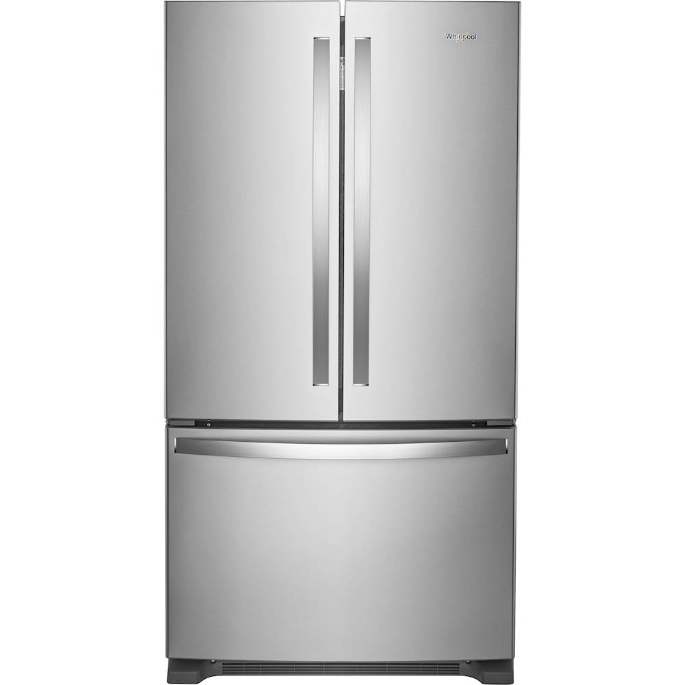 Whirlpool 25 2 Cu Ft French Door Refrigerator Stainless Steel Wrf535smhz Best Buy French Doors French Door Refrigerator Fridge French Door