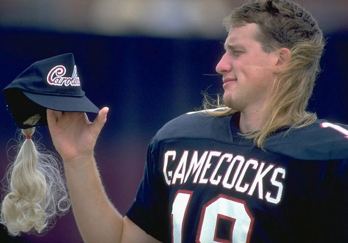 The 30 Most Breathtaking Mullets In The History Of Sports South Carolina Gamecocks Carolina Football Mullets