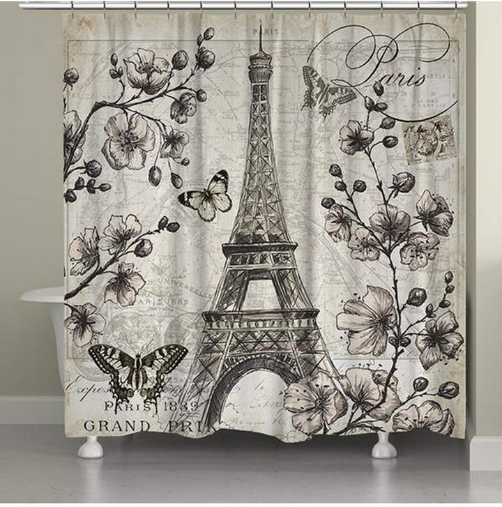 Laural Home Paris In Bloom Shower Curtain Reviews Shower