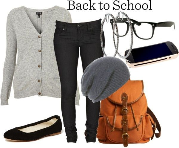 "24 Great Back to School Outfit Ideas - except for me they're ""starting life in the real world with a real job"" outfits."