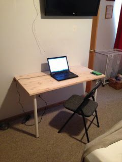 Bill S Fold Down Wall Mounted Desk How To Build A Table