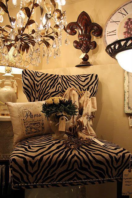 fleur de lis....love it all   Animal print furniture, Animal ...