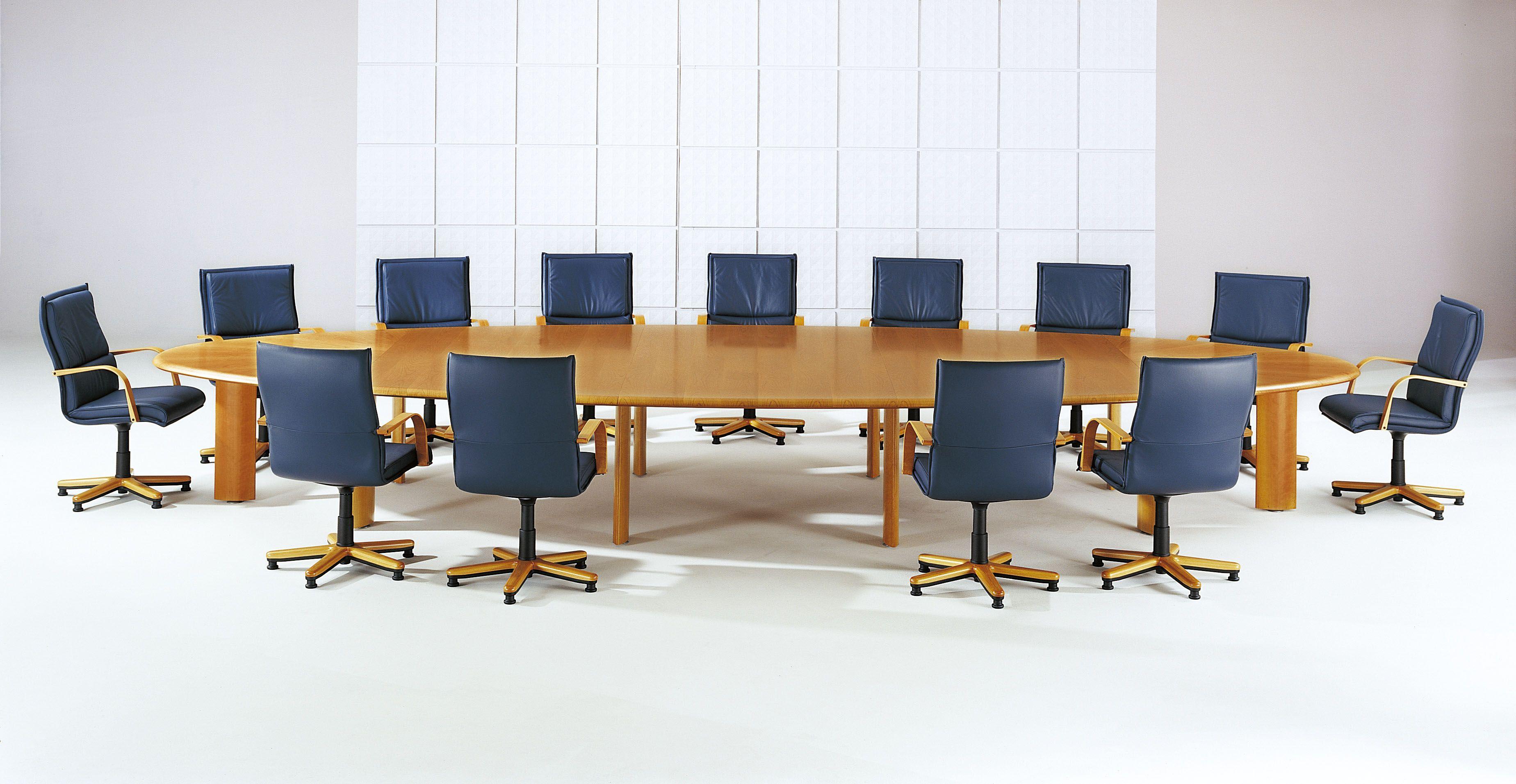 table de r union elliptique merisier 16 personnes lor mab mobilier de bureau pinterest. Black Bedroom Furniture Sets. Home Design Ideas
