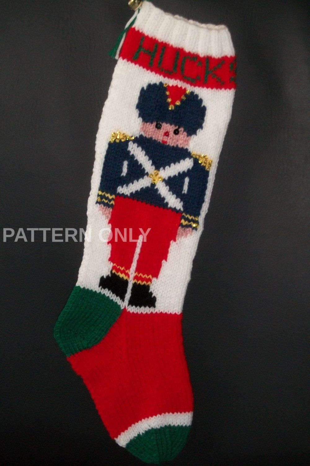 PDF Pattern Only Hand Knitted Toy Soldier Christmas Stocking by ...