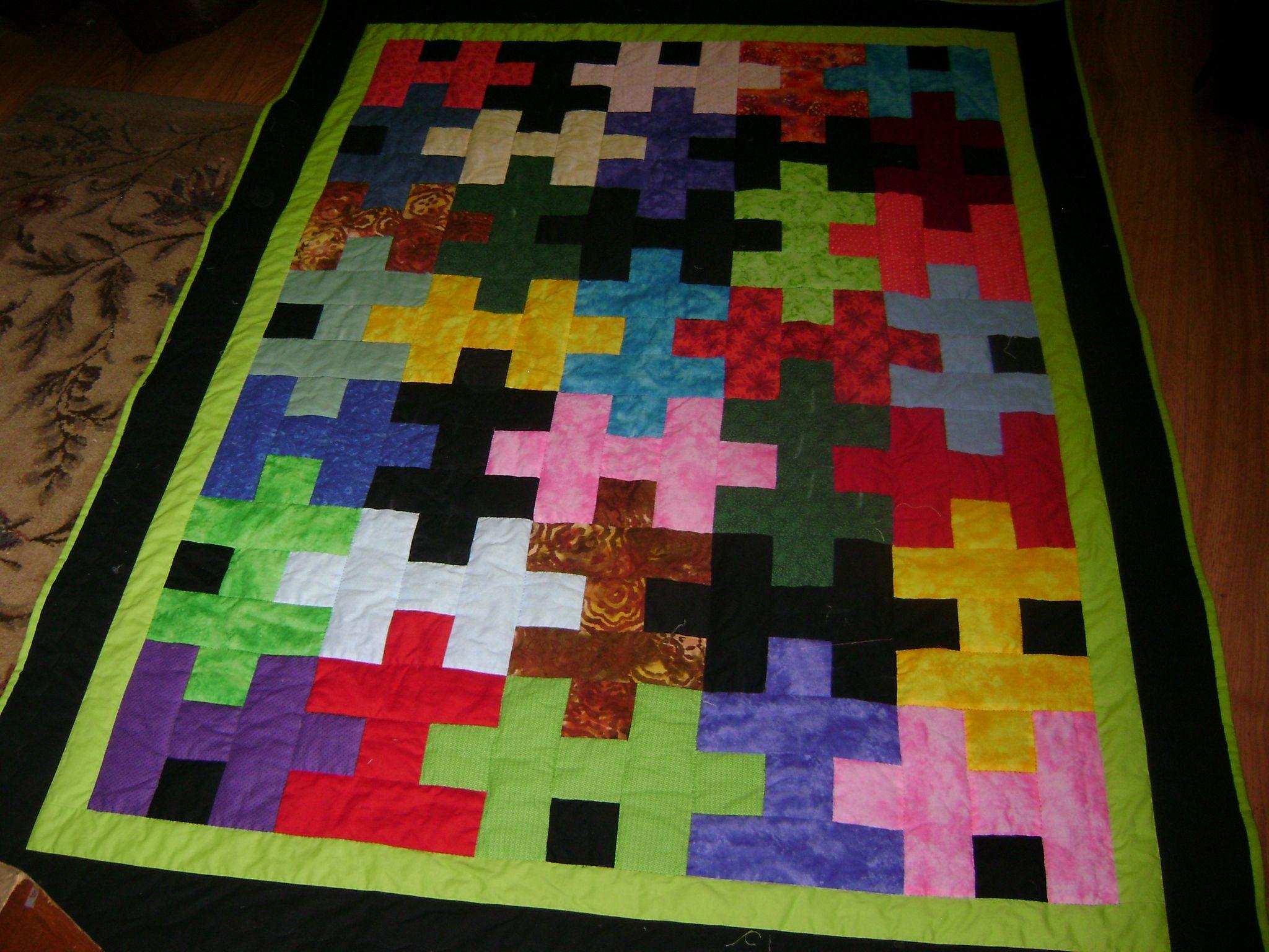 Jigsaw puzzle quilt. Peace, Robert from nancysfabrics.com | Puzzle ... : jb quilting - Adamdwight.com