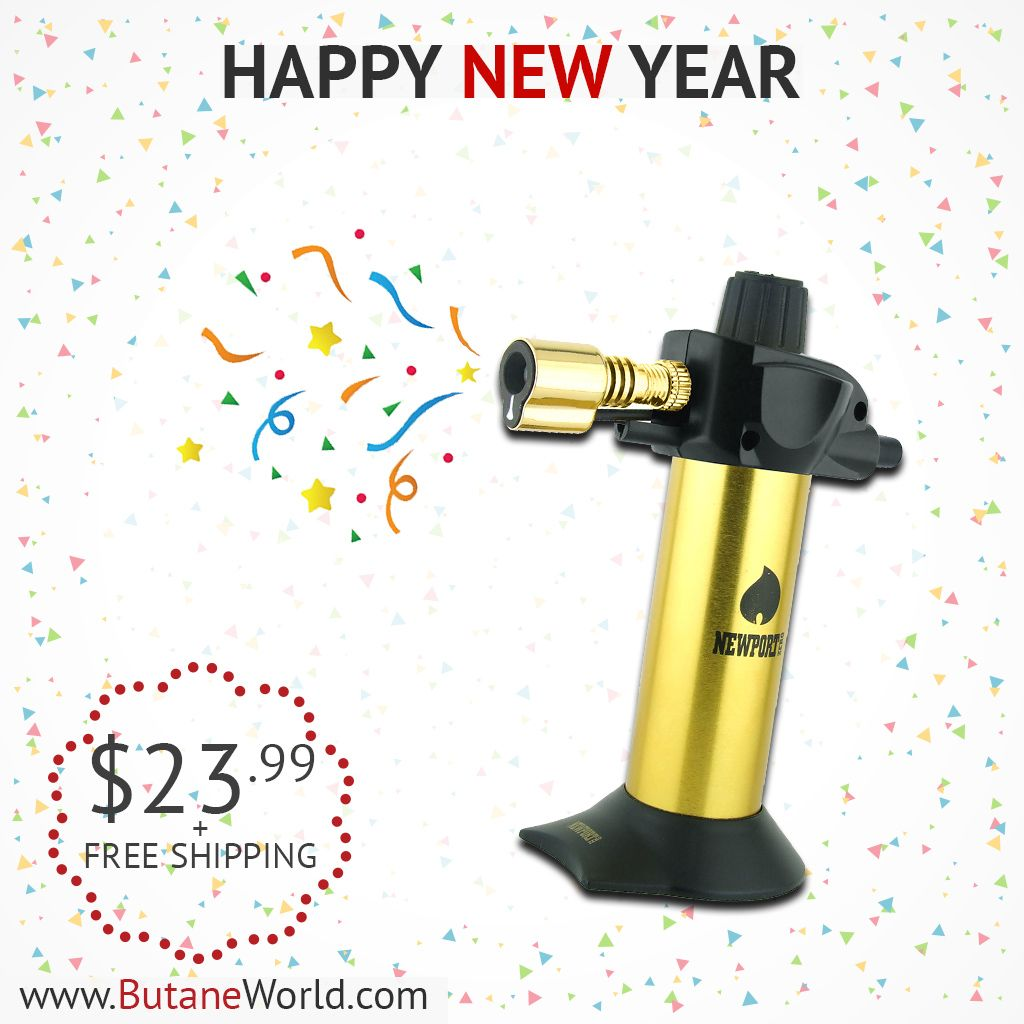 We wish you a happy new year. Grab the Best Deals at ButaneWorld.com  #butane #newport #newportzero #nxxt2zero #vector #torch #butanetorch #cheapbutanetorch #cheapbutanefuel #labordayweek #usa #butaneworld #fire #blueflame #flame #glassofig #budderblocks #torches #tane #headyaf #headytorch #headygear #headygang #lowtemplife #thousanddollarsmoke #oprahsbookclub #boutthatlife #goldtorch #gold #luxury