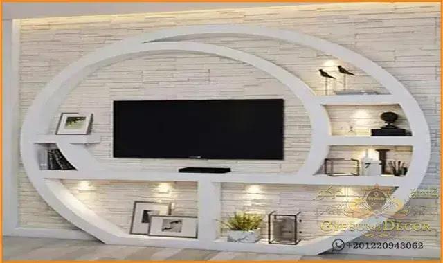 اسقف جبس بورد 2021 Decoration Appartement Moderne Idee Deco Meuble Tv Deco Meuble Tele