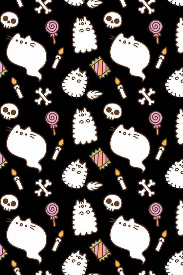 Pusheen Wallpaper Fondos De Halloween Fondo De Pantalla Halloween Dibujos Kawaii